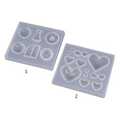 UV Hars Ambachten Maken DIY Crystal Epoxy Mold Candy hartvormige Patch Decoratie Siliconen Mallen