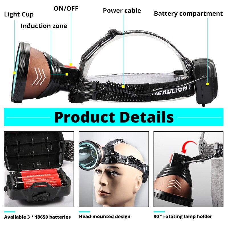 Multi-Mode Headlamp 2 Pack Flashlight Camping Work ~ NEW