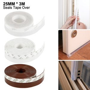 25mm 3m Multifunctional Rubber Sealing Strip Steel Door and Window Sealing Strip Silicone Rubber Sealing Strip Soundproof