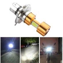 LED Motorcycle Headlight H4 BA20D P15D COB High/Low Beam Led Bulbs Super Bright Fog Lamp White 6000K DC12V