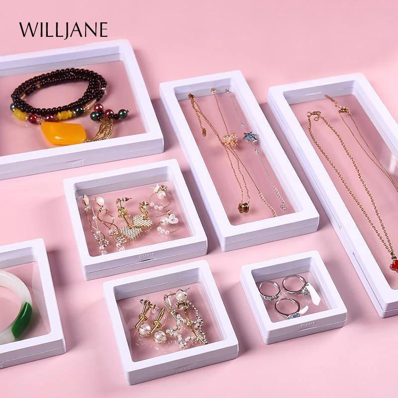 Acrylic Jewelry Diamond gemstone earrings Storage Display stand Holder Organizer