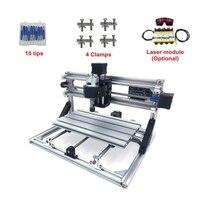Mini CNC 1610 + 500mw laser CNC engraving machine Pcb mini Milling machine with GRBL control cnc engraving machine mini milling machinemini cnc -