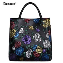 ZOOLER brand genuine leather bags women cow handbag Female Shoulder Messenger Bags 2019 new purse large tote bag quality