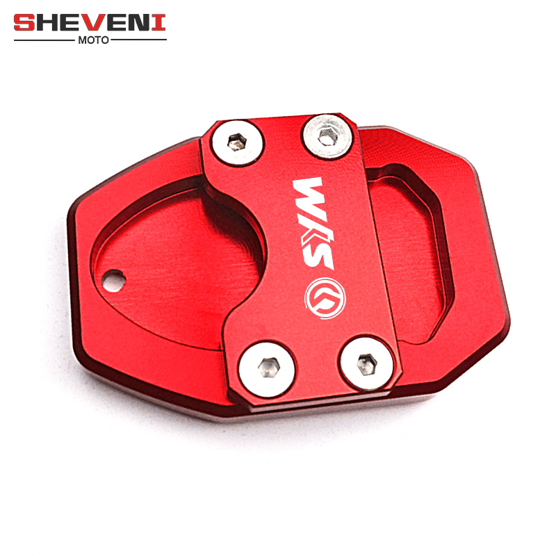 logo <font><b>SYM</b></font> Enlarge Extension Motorcycle CNC Aluminum Kickstand Plate Pad for <font><b>SYM</b></font> GTS300i GTS <font><b>300i</b></font> 2013-2016 CRUISYM 300 2017-2018 image