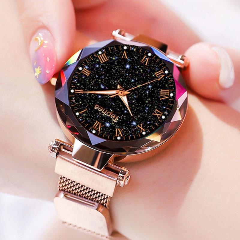 Ladies Wrist Watch Starry Sky Magnetic Women Watch CLOVER JEWELLERY