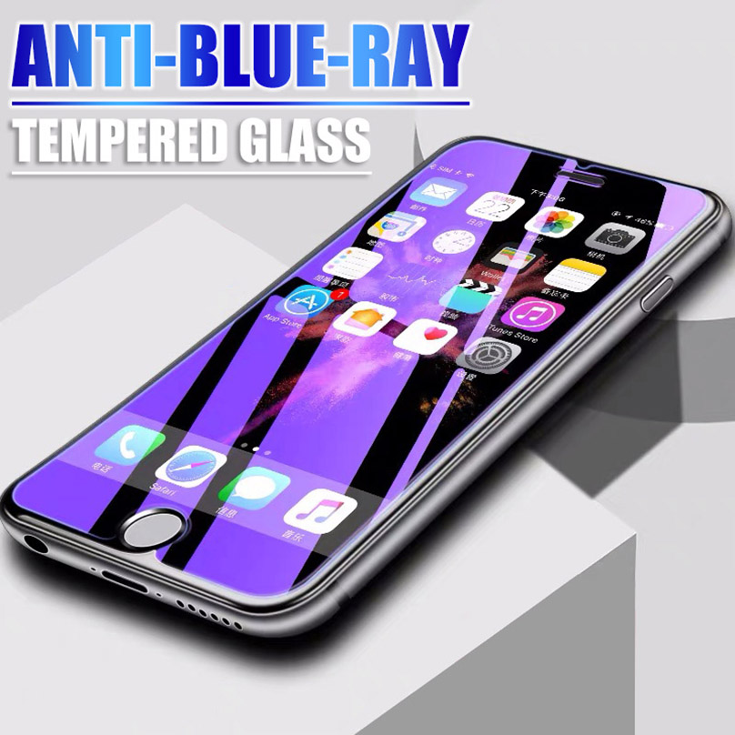 Anti Blue Ray Tempered Glass On The For Iphone 11 Pro Xs Max X Xr Iphone 7 8 6s 6 Plus 5 5s Se Screen Protector Protective Glass
