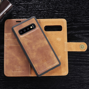 Image 1 - Genuine Shockproof Removable Wallet Case For Samsung S10 S9 S8 Plus Flip Leather Cover S10e Note8 Note9 S7 edge Business Coque