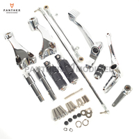 Chrome Motorcycle Forward Controls Kit Shift Levers Linkage Moto Foot Rest Pegs case for Harley Sportster XL 883 1200 2004 2013