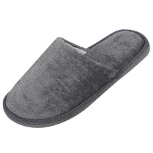 25 новые теплые мужские слипперы, ПЛИС, флок, Домашние тапочки для мужчин прочная нескользящая прошитая мягкая мужская обувь