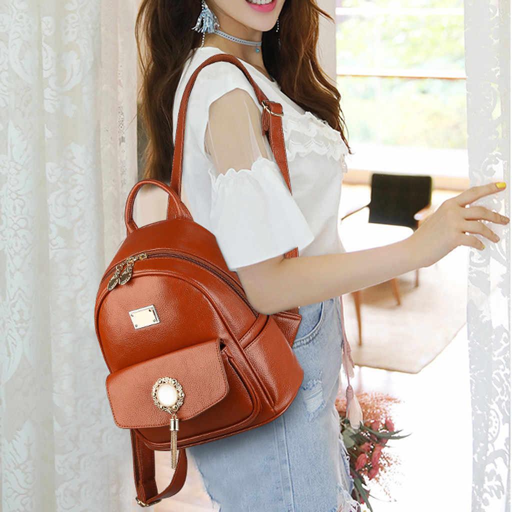 Модный женский рюкзак из искусственной кожи, школьный рюкзак на плечо для колледжа, Повседневная дорожная сумка для девушек, mochilas mujer 8,12