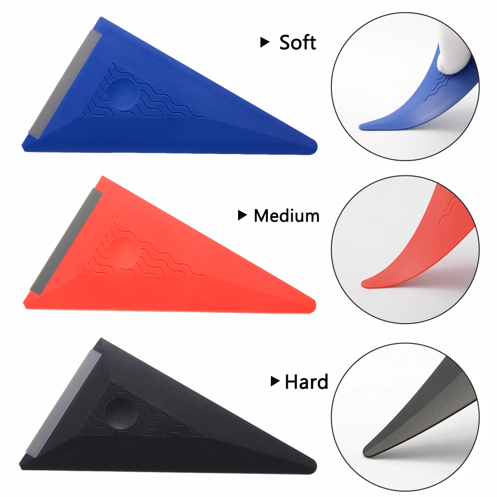 EHDIS Window Tinting Car Wrap Squeegee Silicon Rubber Windshield Glass Scraper Carbon Fiber Covering Film Vinyl Applicator Tools