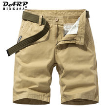 2021 Summer Cotton Men Cargo Shorts Casual Solid Color Khaki Men Short Pants Brand Clothing Jogger Military Cargo Shorts Men