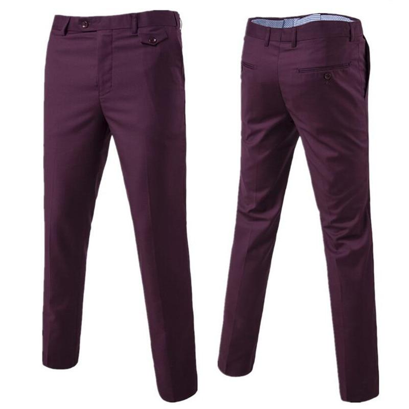 New-2018-High-quality-Men-Pure-color-Formal-Business-suit-pants-Male-leisure-wedding-bridegroom-suit_1