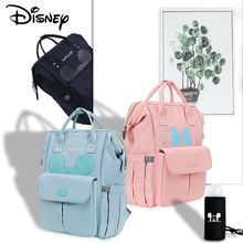 Disney Baby Diaper Bag Mickey Usb Large Capacity Mommy Shoulder Zipper for Stroller Nappy Mummy Multifunction New