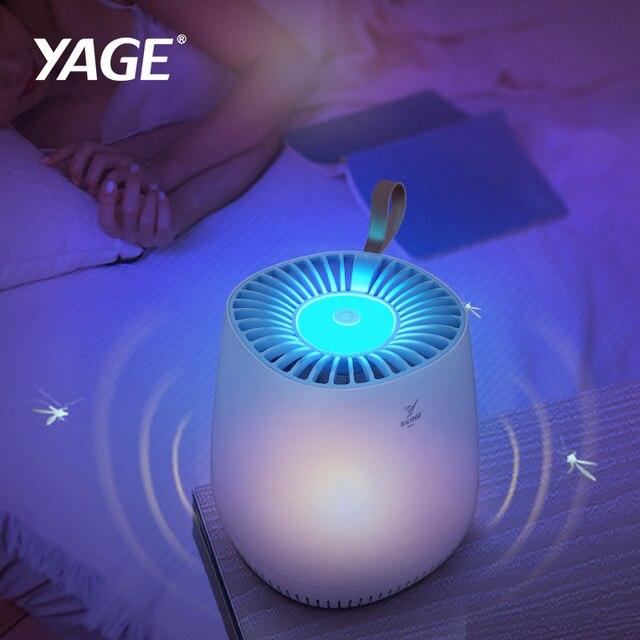 YAGE USB البعوض القاتل مصباح فخ LED الحشرات فخ UV قتل مصباح مكافحة البعوض هووفلاي تحلق فخ علة صاعق طارد ضوء