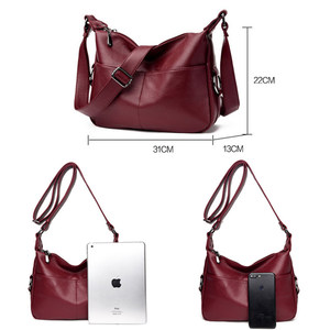 Image 3 - Luxuryกระเป๋าถือผู้หญิงกระเป๋าออกแบบกระเป๋าหนังนุ่มผู้หญิงCrossbody Messengerกระเป๋าสุภาพสตรีVintageกระเป๋าสะพายยี่ห้อที่มีชื่อเสียง