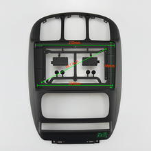 10.1 inç Fasxia araba ses çerçeve araba radyo fasya, gps navigasyon fasya paneli uygun 2006 2012 CHRYSLER GRAND VOYAGER