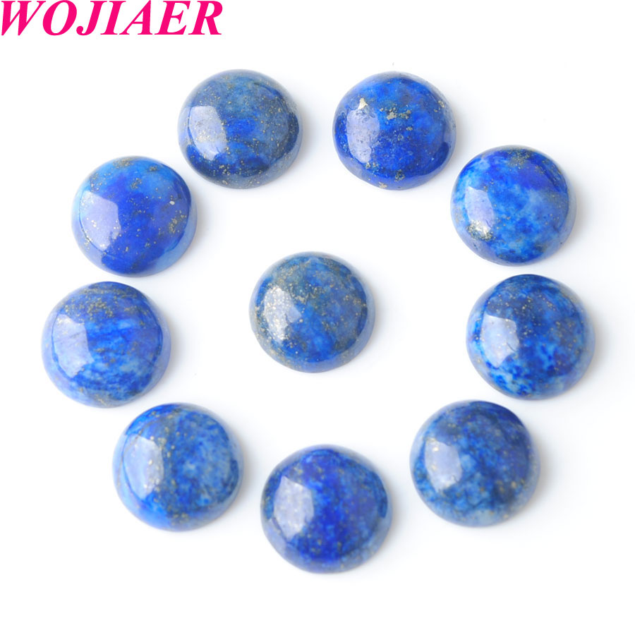 4pcs Howlite Lapis Round Cabochon High Quality 12mm 14mm 16mm 18mm Gemstones