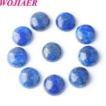 Lapis lazuli solta gem pedra redonda cabochon contas de cura de pedra natural contas apto para mulheres diy jóias artesanais 50 pçs pu8229