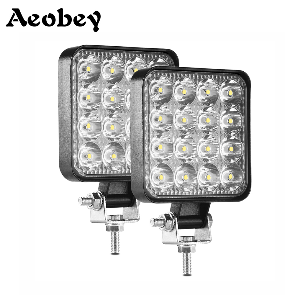 LED Light Bar 48 W LED BAR 16 Barra ไฟ LED รถ 4x4 LED Offroad SUV ATV รถแทรกเตอร์เรือรถบรรทุก Excavator 12V 24V ทำงาน