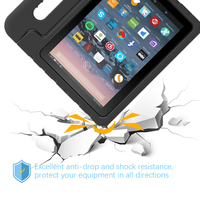 screen film For Amazon Fire 7 2019 Tablet Case EVA Shockproof Super Protection Cover Portable Handle Protective Stand Cover + Screen Film (3)