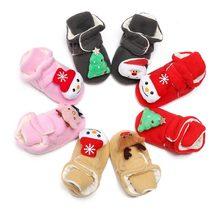 Рождественская обувь для малышей 0 24 месяцев; Обувь новорожденных;