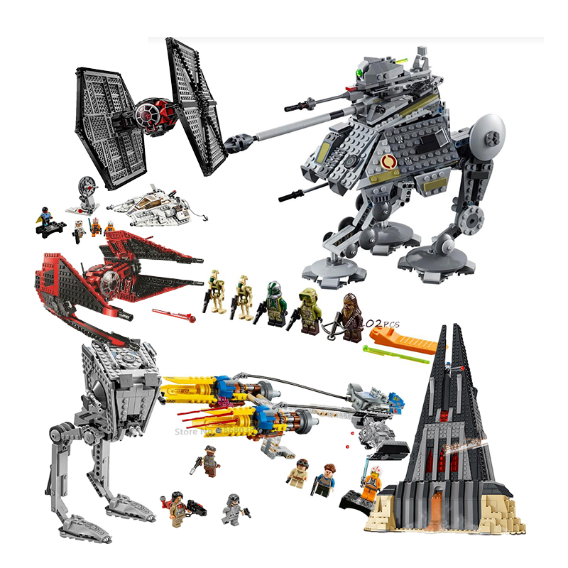 AT-AP Major75234 Vonreg's TIE Fighter 75240 Star Destroyer noir Ace TIE Interceptor x-wing bloc briques jouets lepining Star Wars