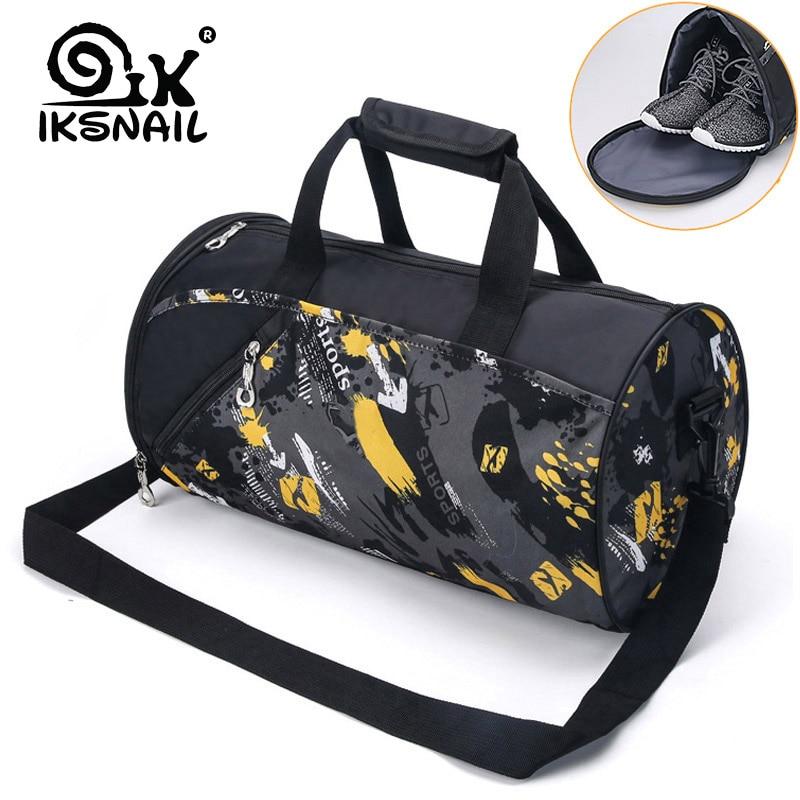 IKSNAIL Sports Gym Bag Fitness For Women Men Bags Yoga Nylon Travel Training Ultralight Duffle Shoes Small Sac De Sport 2019 Tas