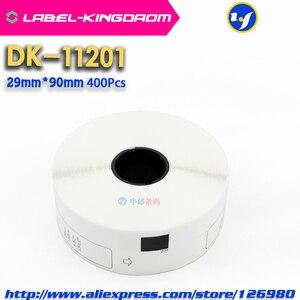 Image 2 - 15 Refill Rolls Compatible DK 11201 Label 29mm*90mm Die Cut Compatible for Brother Label Printer White Paper DK11201 DK 1201