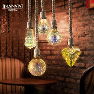 Hemp Rope Pendant Lights Lamp Decor Vintage Retro Loft Industrial Hanging Lamp For Home Bedroom Living Room Decoration Fixtures