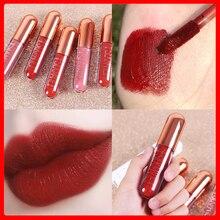 Lipstick Liquid Lip-Gloss Makeup Nude Korean Cosmetics Dark-Red Long-Lasting CL116 Hot-Sale