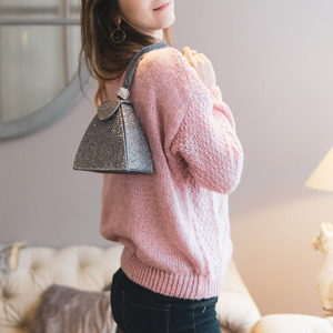 Image 3 - VINTAGEเพชรเจ้าสาวมินิสีเทาพีระมิดPARTYกระเป๋าถือผู้หญิงกระเป๋าสตรีกระเป๋าถือคริสตัลคลัทช์กระเป๋า