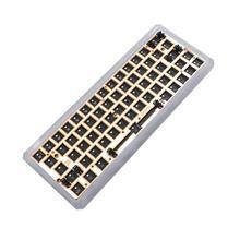Gk64 gk64x gk64xs rgb quente swap programável bluetooth com fio caso cnc placa pcb cereja mx teclado diy kit