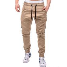 Мужские штаны новые модные мужские штаны для бега мужские фитнес бодибилдинг спортзал брюки для Одежда для бега осенние спортивные брюки Размер 4XL