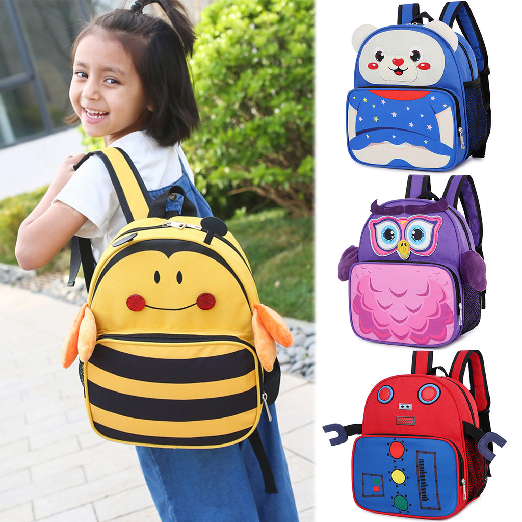 ddler Children Travel Boys Girls Cartoon Backpack Schoolbag Bags Rucksack US