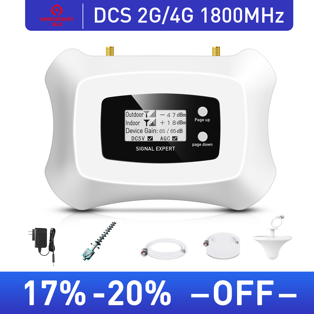 Tele2 RU 2G 4G Cellular Signal Amplifier 1800MHz Mobile Signal Repeater Cell Phone Signal Booster MTS Beeline Vodafone RU Area