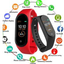 Smart Wristband for iOS Android M4 Bracelet Sleep Monitor Bluetooth Fitness Tracker Call Reminder Take Photos Sport