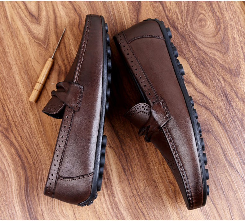 H74cb9e3c5eb944218309edf862dd52a1J Men Loafers Shoes Genuine Leather Casual Sneakers Male Fashion Carved Boat Footwear Soft Dress Party Shoes Men Chaussure Homme