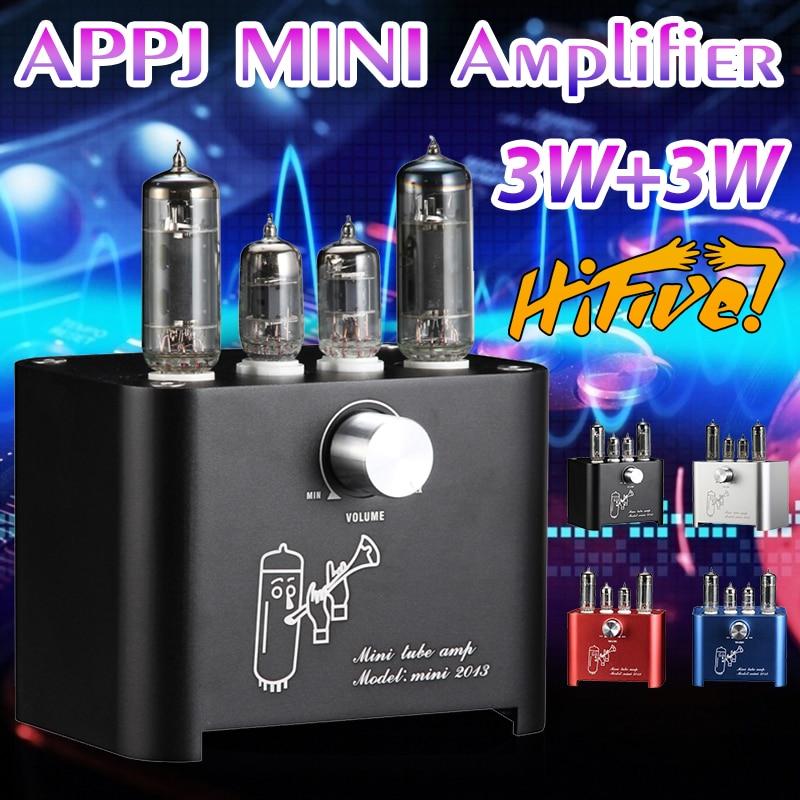 Вакуумный трубчатый усилитель APPJ mini2013 6J1 6P1, усилитель мощности HIFI стерео аудио без потерь, домашний винтажный усилитель для рабочего стола, ...