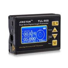 TLL 90S المحمولة صغيرة شاشة الكريستال السائل زاوية الرقمية المنقلة زاوية متر المهنية المزدوج محور الليزر مستوى الميل