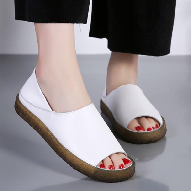 Vrouwen Platte Schoenen Sandalen Zomer Dames Lichtgewicht Ademende Casual Zachte Bodem Vrouwen Schoenen Outdoor Mode Grote Maat 43 44