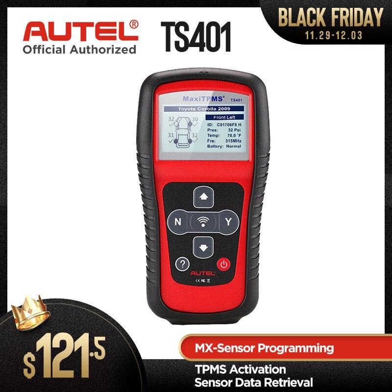Autel Maxitpms TS401 TPMS Diagnostic Tool Receive 315mhz 433mhz Sensor Signals Tyre Pressure Tester Activate Relearn Sensor Tool on