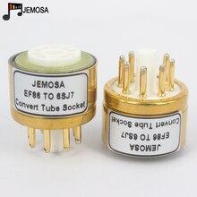 1 pc e80f ef86 para 6sj7 6j8p 6sh7 5693 717a 688c diy áudio de alta fidelidade tubo vácuo amplificador converter adaptador soquete frete grátis