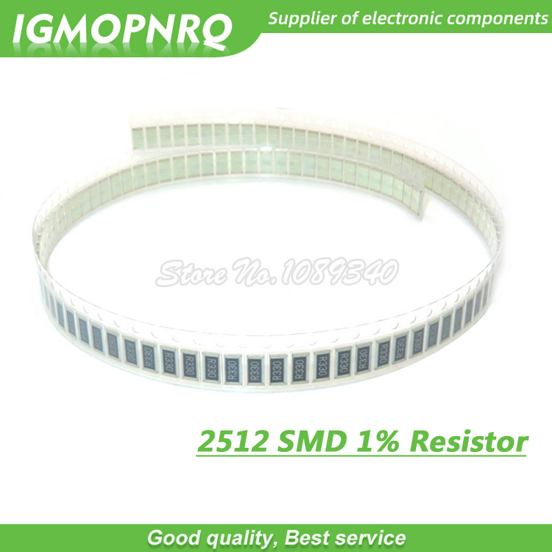 50Pcs 2512 SMD Fixed Resistor 1%  0.1R 0.01R 0.05R 0.001R 0.33R 1R 0R 10R 100R 0.001 0.01 0.1 0.33 0.05 0 10 100 Ohm 2512-1R