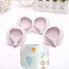 4pc/SET Cake Mold hot Air Balloon Shape Plastic Biscuits Plunger Cookie Cutters 4 Styles Cutter Set Fondant Decoration