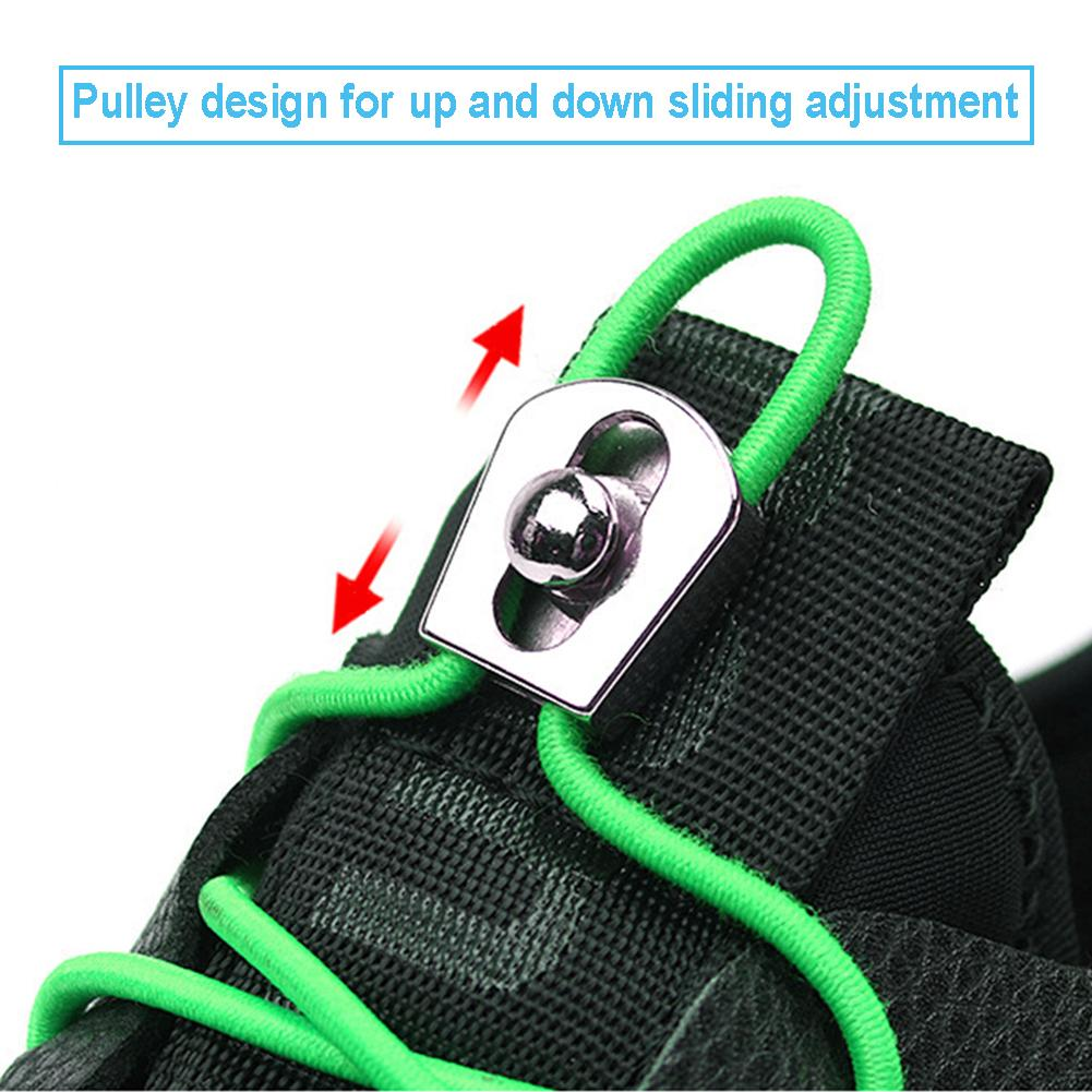 1 Pair Stretching Lock No Tie Shoelace Running Reflective Elastic Lazy Sports