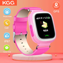 лучшая цена Q90 GPS Child Smart Watch Phone Position Children Watch 1.22 inch Color Touch Screen WIFI SOS Smart Baby Watch VS Q80 Q50 Q60