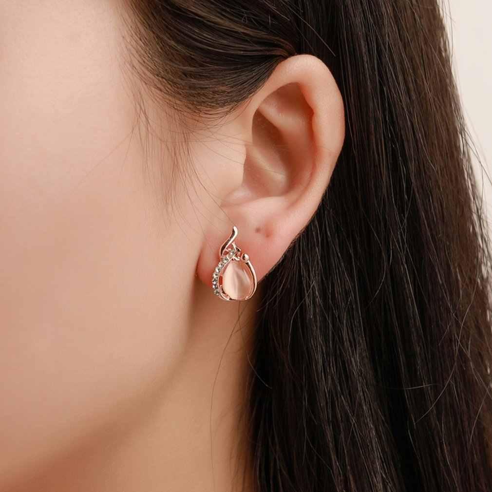 2019 новый маленький свежий Кристалл Опал комплект невесты ожерелье серьги из двух частей