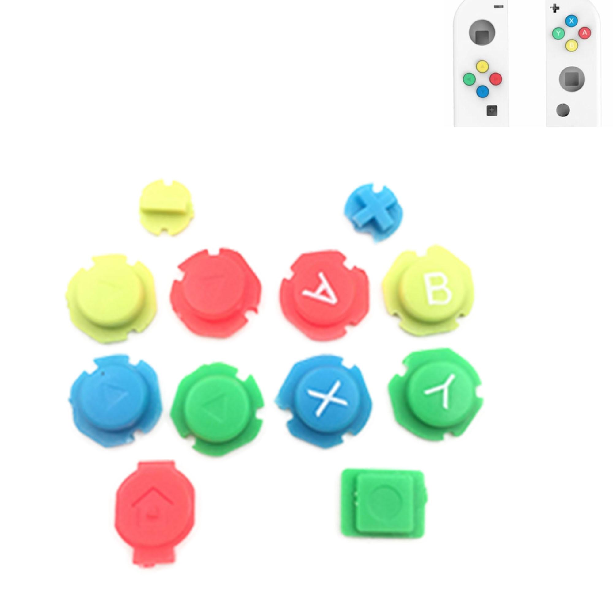 20 セットカラフルな ABXY 方向キーボタンの交換ニンテンドースイッチ喜び詐欺 R LController  グループ上の 家電製品 からの 交換部品 & アクセサリー の中 1