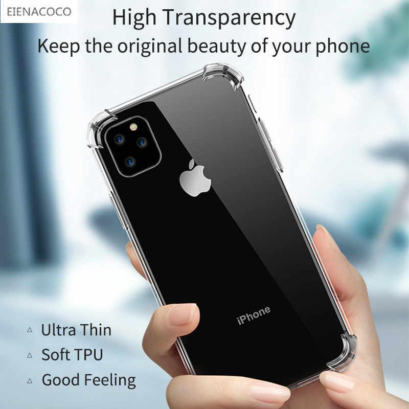Étui pour iPhone de téléphone en Silicone Transparent antichoc de luxe 11 Pro X XR XS Max 8 7 6 6S Plus couvercle Transparent en polyuréthane thermoplastique pour étui iPhone 5